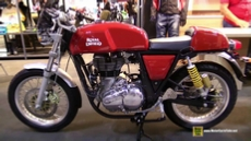 2015 Royal Enfield Continental GT Red Colour at 2014 EICMA Milan Motorcycle Exhibition