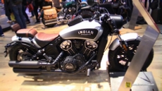 2018 Indian Scout Bobber at 2017 EICMA Milan Motorcycle Exhibition