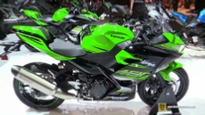 2018 Kawasaki Ninja 400 at 2017 EICMA Milan Motorcycle Exhibition
