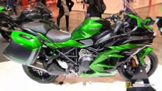 2018 Kawasaki Ninja H2 SX SE at 2017 EICMA Milan Motorcycle Exhibition